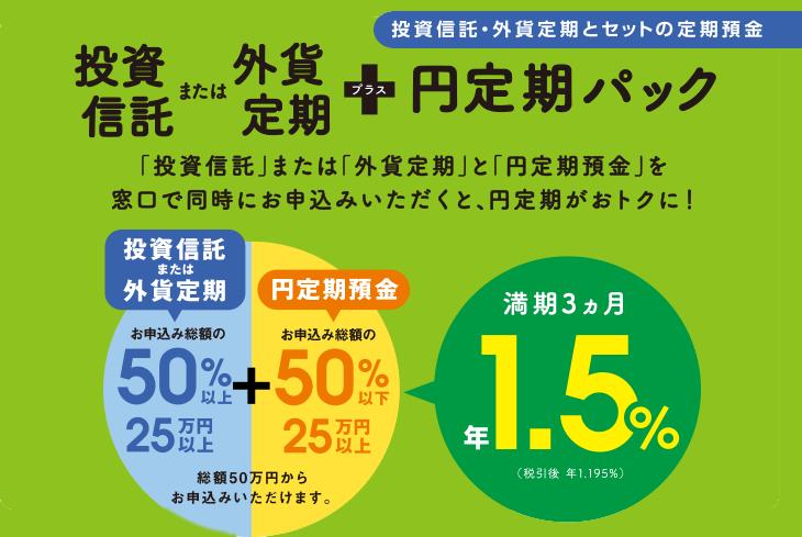 投資信託+円定期パック | ため...